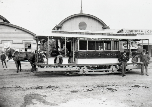 first electric tram west end