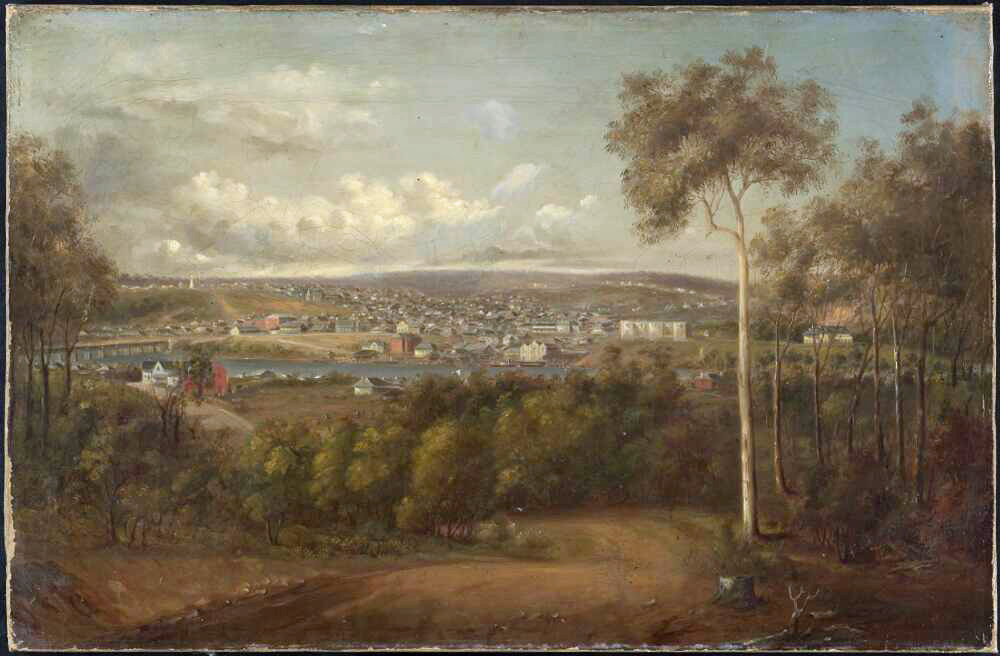 view brisbane ca 1867 joseph backler possibly annerley road nla