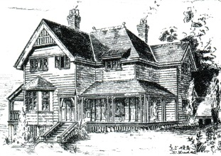 The rectory, designed by John Buckeridge in 1890 (Building, Engineering  and Mining Journal of Australia and New Zealand 28 March 1891 )