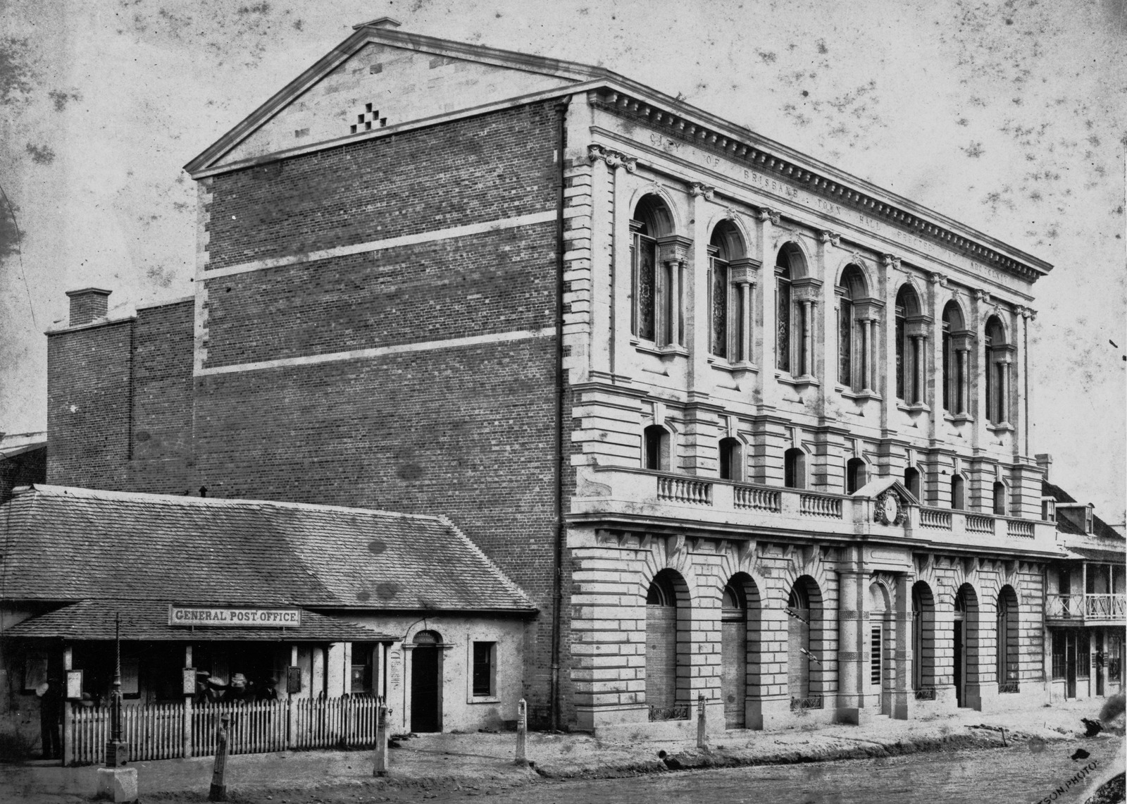 brisbane town hall ca 1868 slq