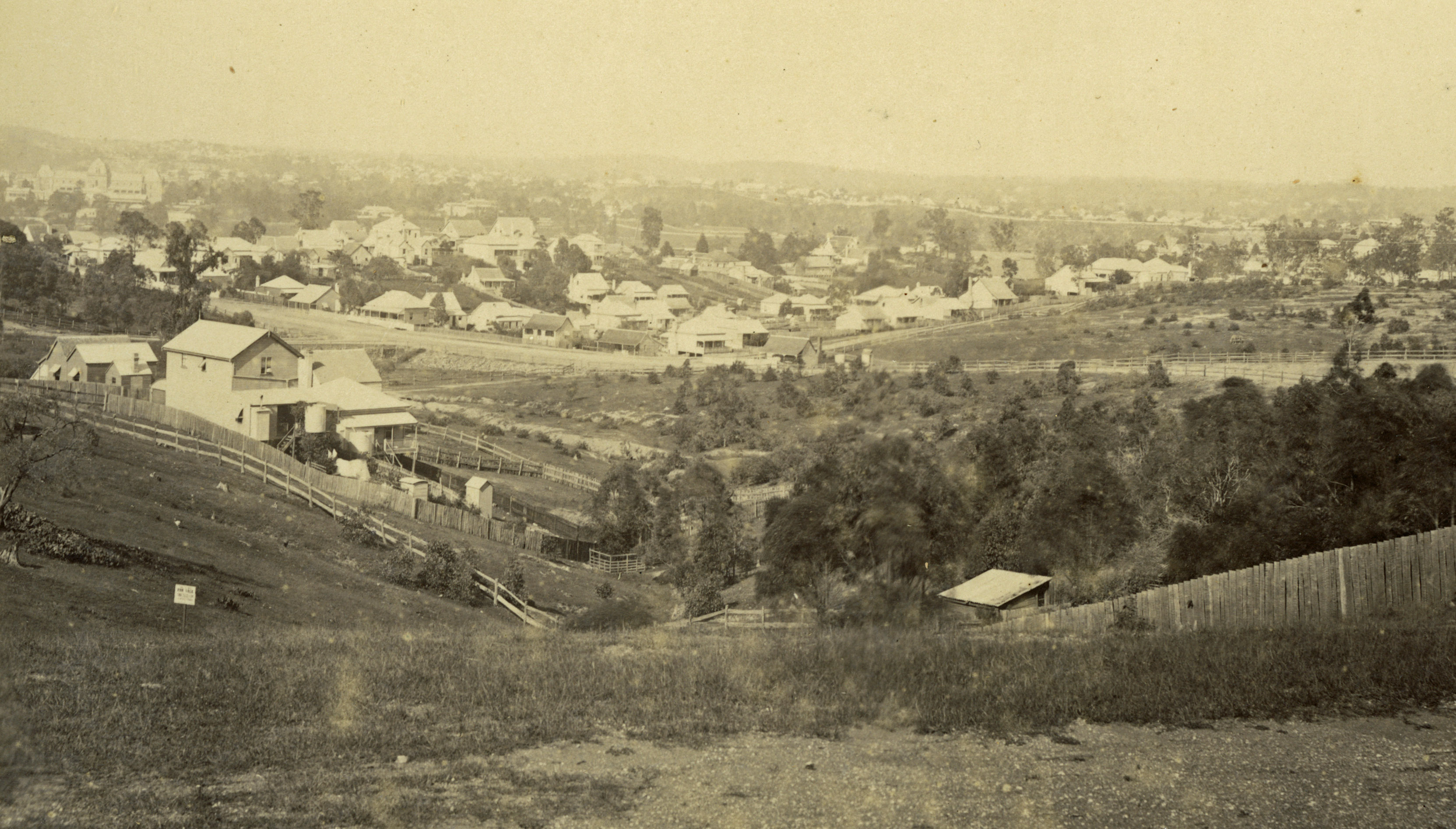 creek descending from highgate hill ca 1890 slq