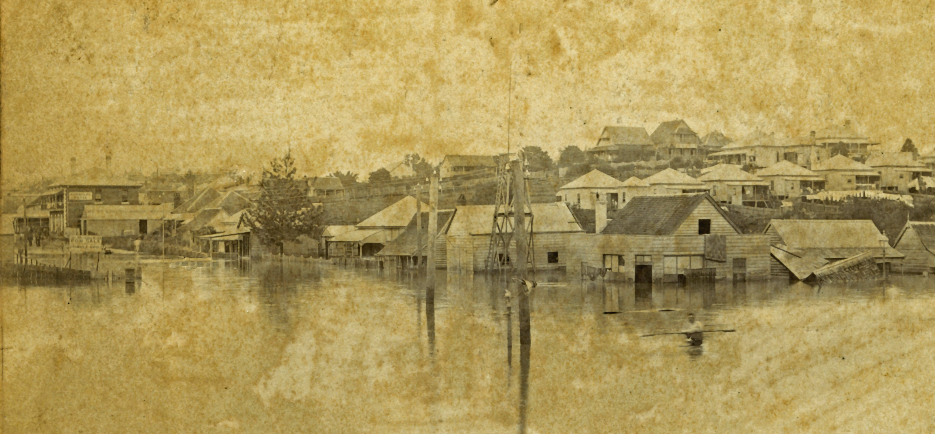 Floodwaters Melbourne and Boundary Streets 1893 slq ps
