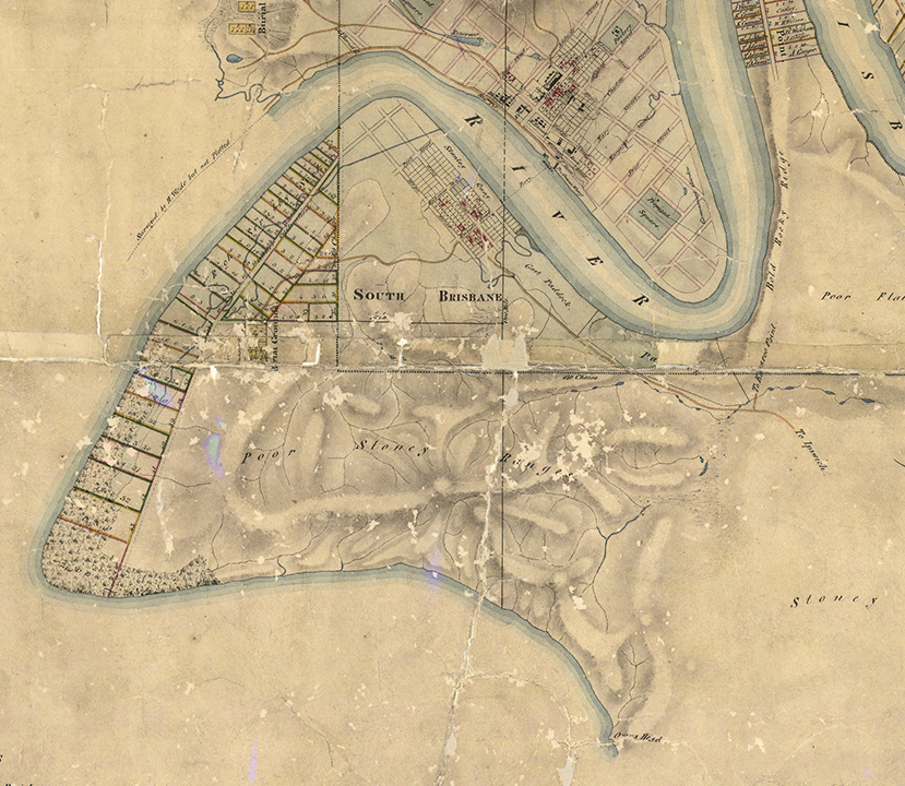 henry wade 1844 map kurilpa extract