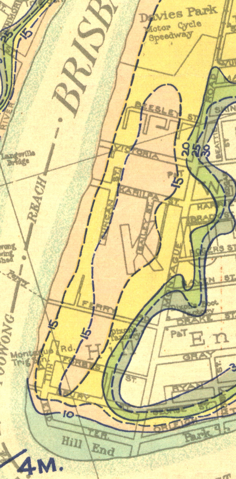 kurilpa swamp 1933 flood map qsa