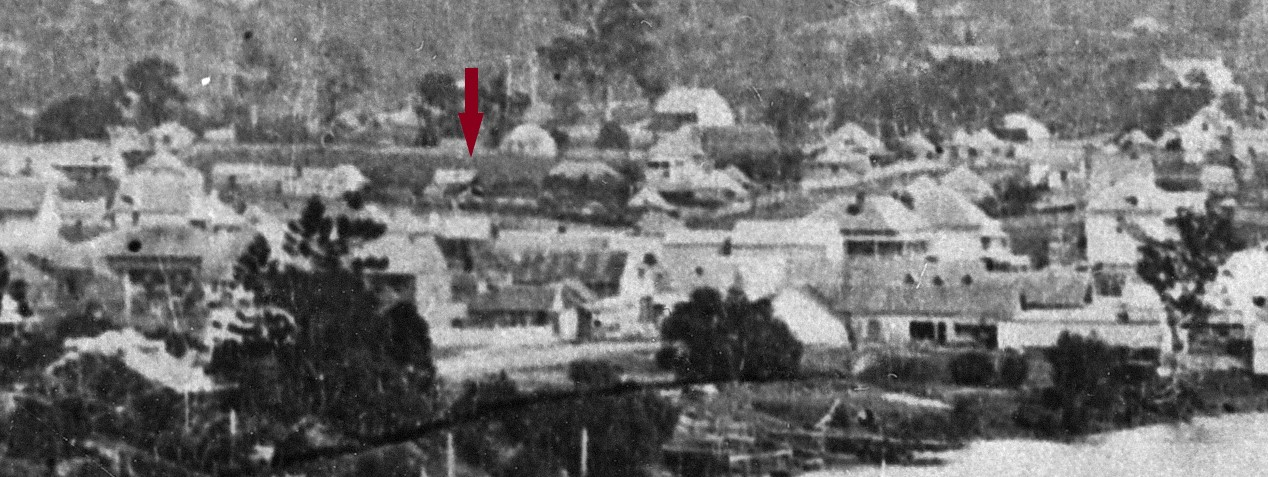 south brisbane view water visible c 1870 closeup arrow slq