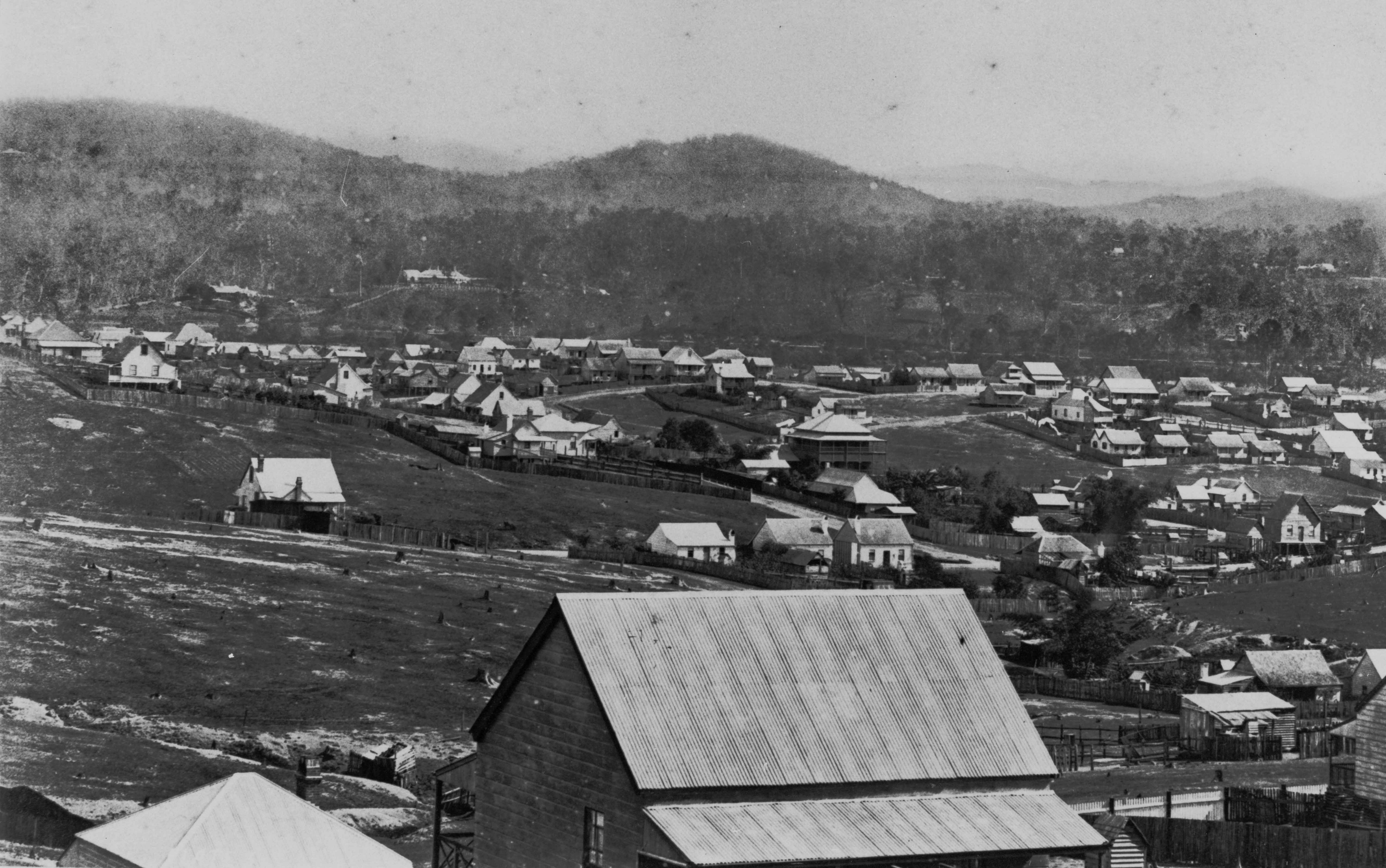View of West End towards Auchenflower 1884 slq
