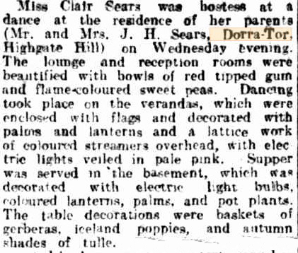 dorra tor party courier 14 sep 1922