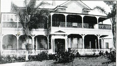 """Kenmedine"", the Coorparoo home of Edward Deshon, later Loreto convent. (Watson and McKay)"