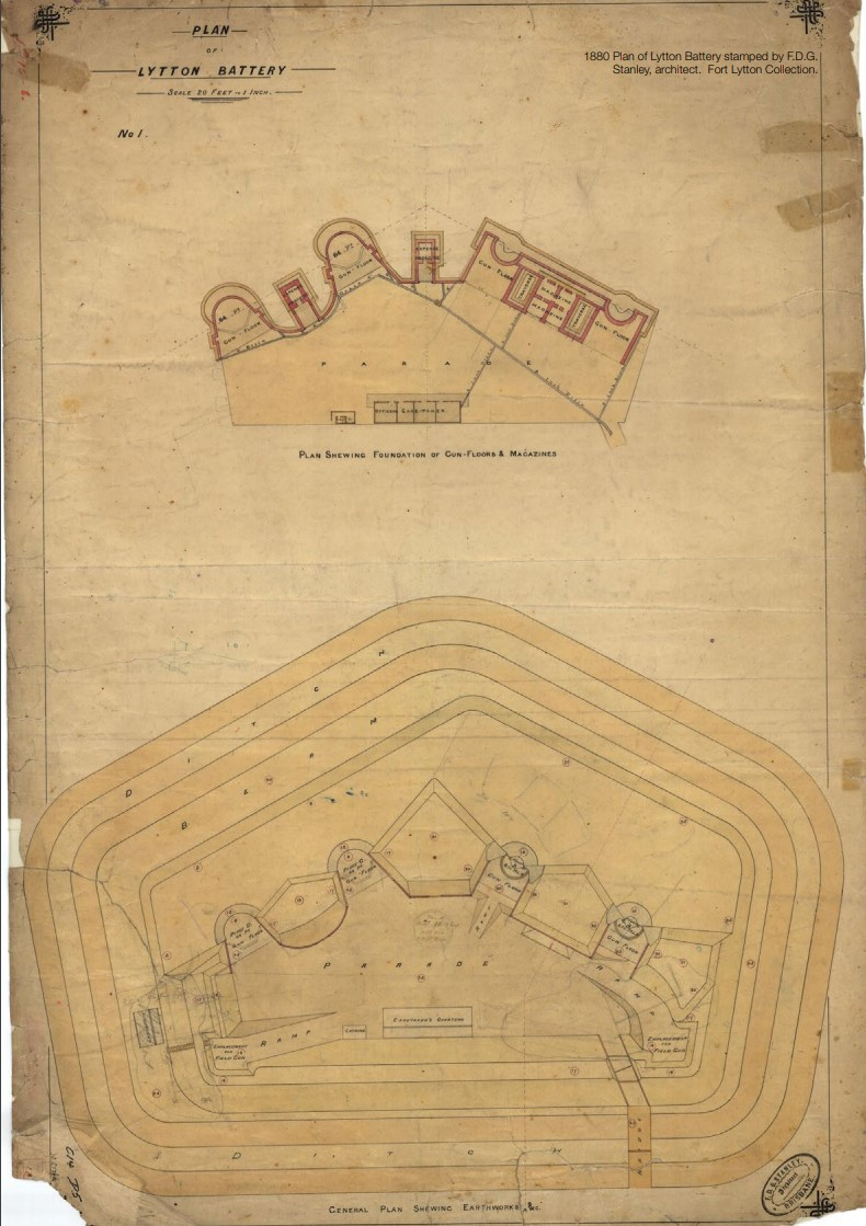 lytton battery drawing 1880