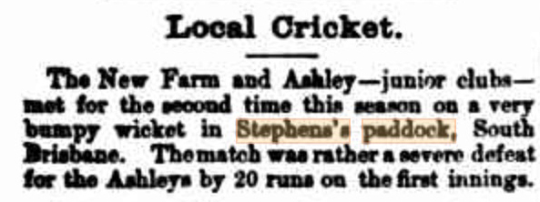 stephens paddock bumpy the week 7 jan 1888