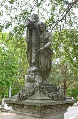 Detail of the Hockings' family monument in South Brisbane Cemetery,