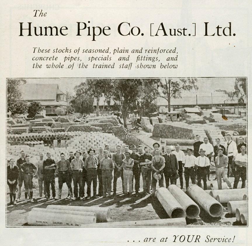 hume pipe souvenir booklet duke gloucester. 1934