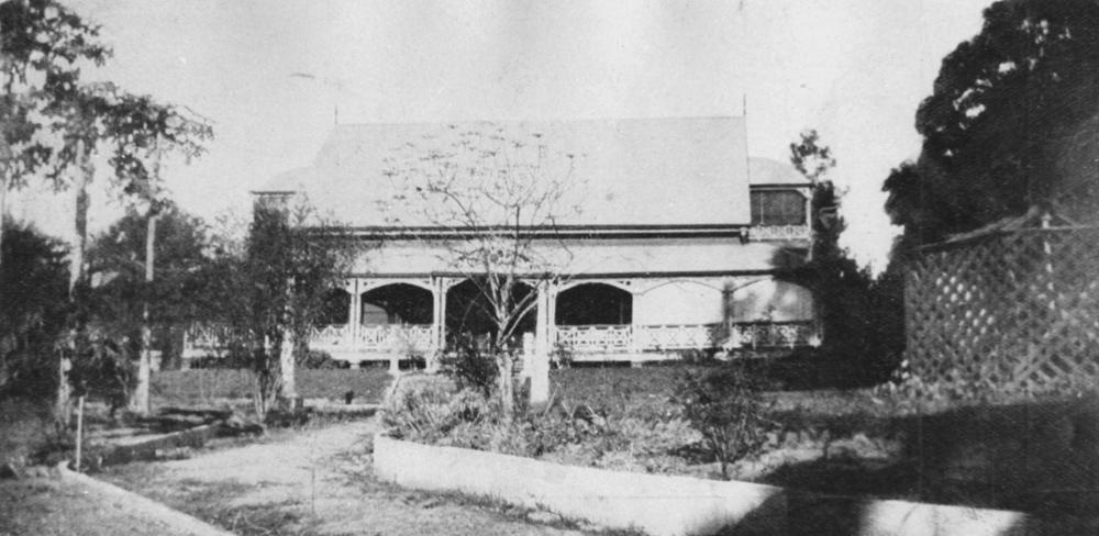 View from the front garden of The Oaks in West End 1931