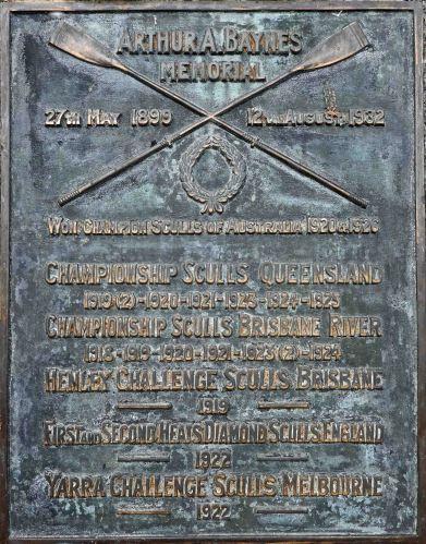 Arthur Baynes plaque, Davies Park (P. Granville)
