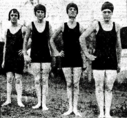 BSHS 1926 Carnival prize winners E. George, E. Neill, J. Lind, and E. Gudd. (Brisbane Telegraph 23rd March 1926)