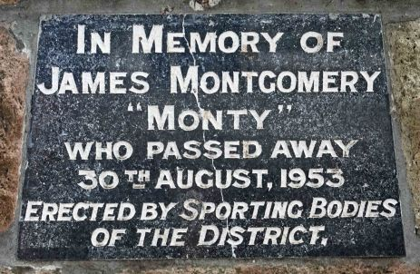 James Montgomery plaque. (P. Granville)