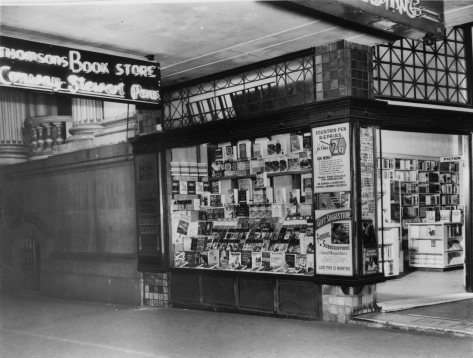 Thomsons Book Store in Griffiths House ca. 1953. (State Library of Queensland)