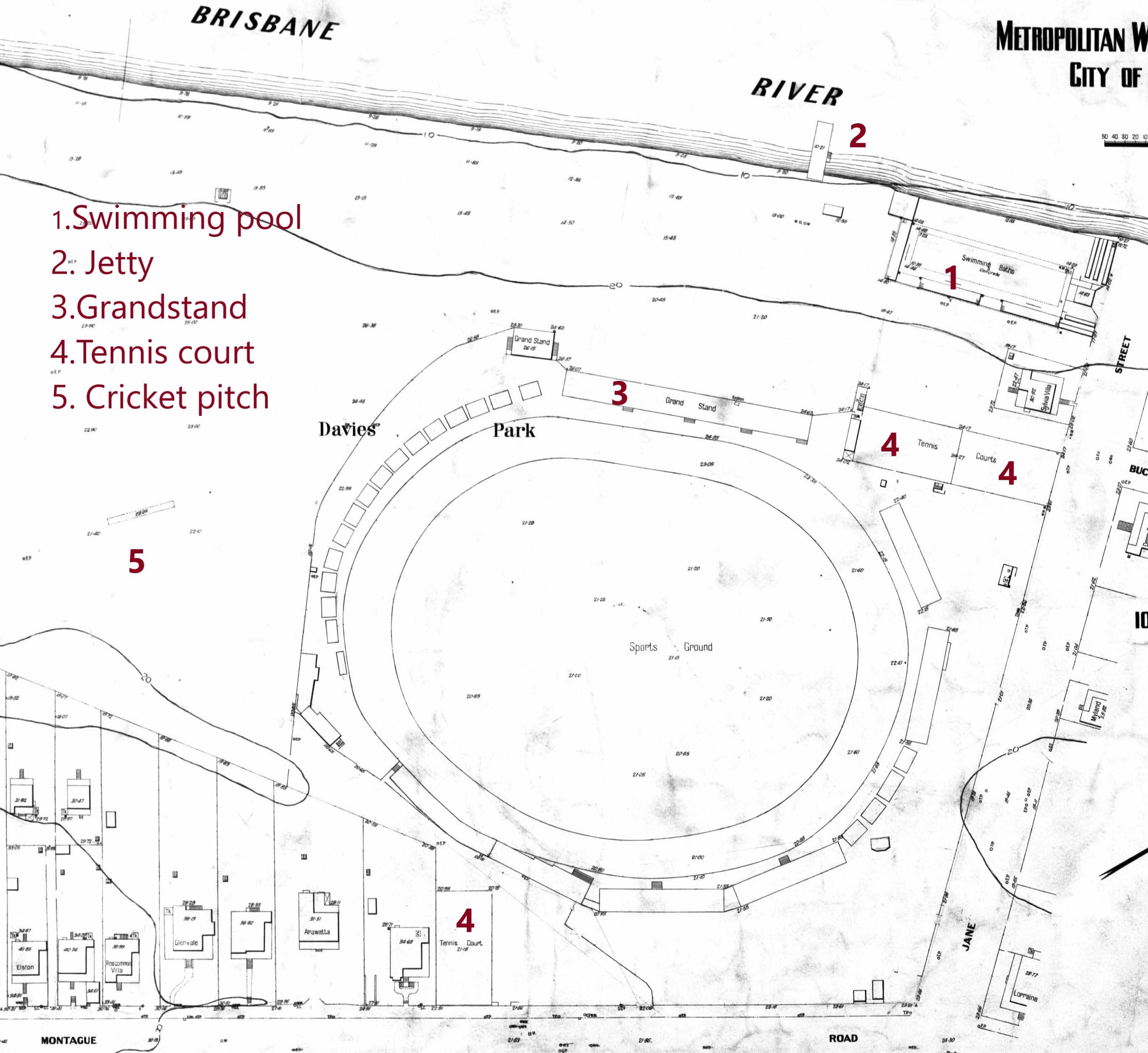 Davies Park 1926 detail plan 97