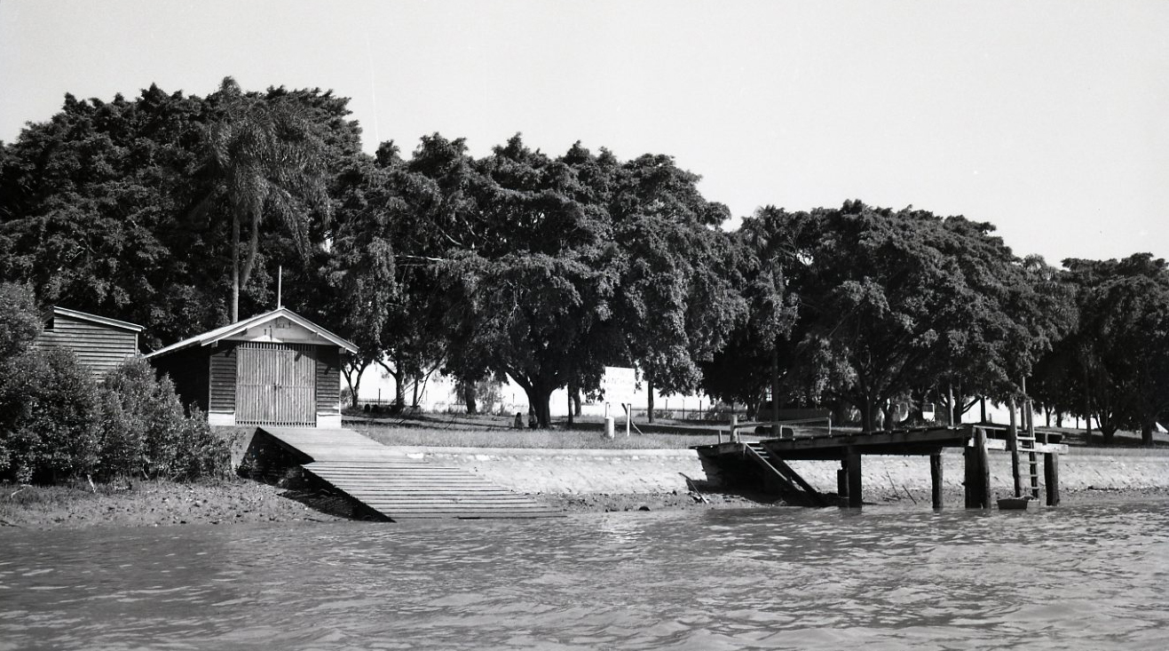 davies park BSHS rowing shed and jetty 1951
