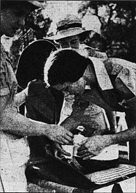 First Aid Practice at Davies Park, (Courier-Mail 20th July, 1942 via Trove)