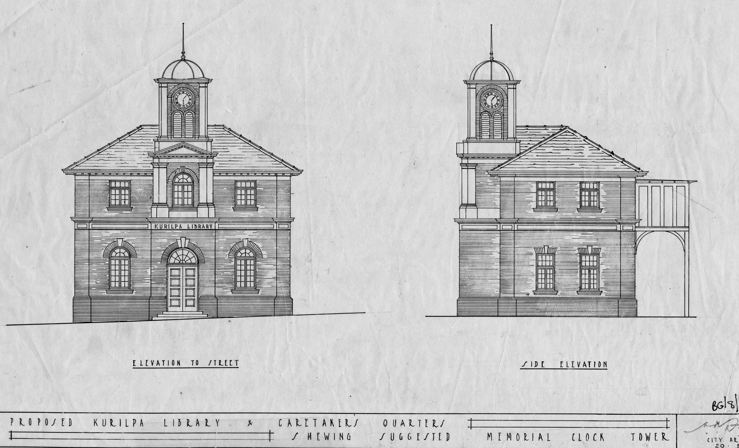 kurilpa library plan 1927 BCC