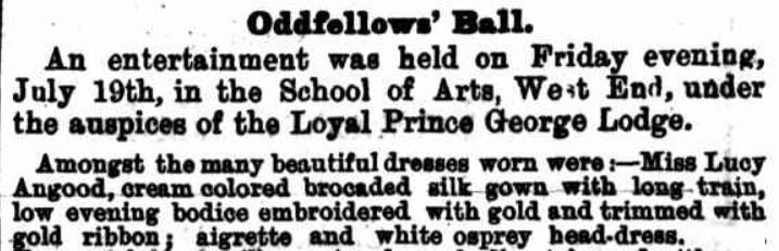 oddfellows ball  1889