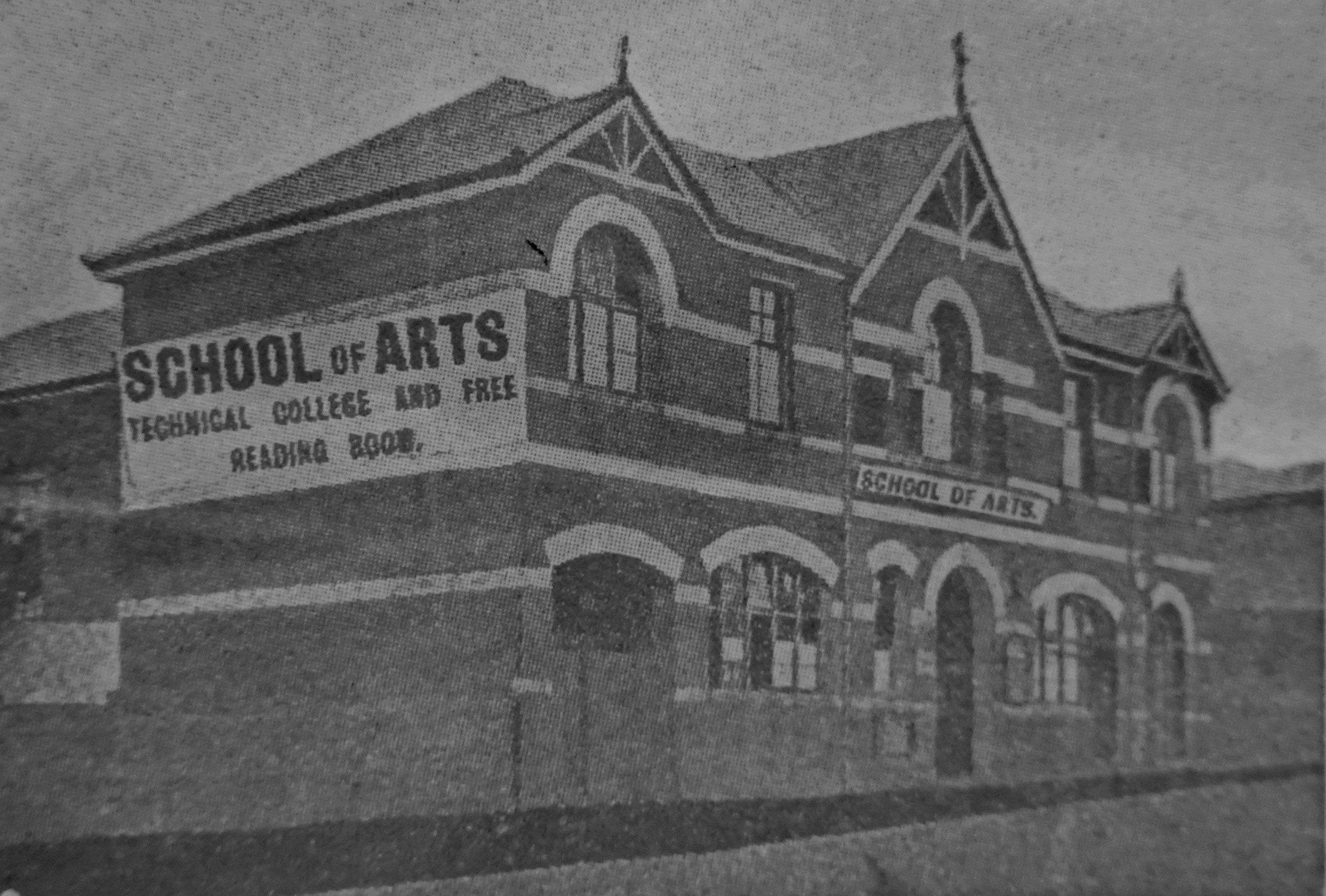 school arts west end letterhead image 1907 bw