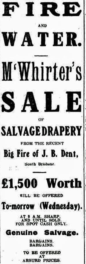 fire sale tele 20 april 1909
