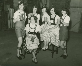 Performers in one of the annual Brisbane Women's Hockey Association Revues held at the Princess 1934-1940. (State Library of Queensland)