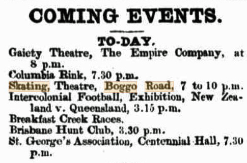 The Telegraph 22 July 1893 Boggo theatre skating