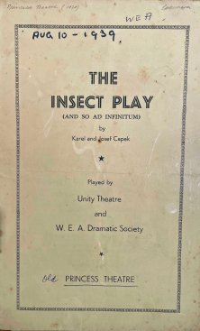 """WEA Dramatic Society """"The Insect Play"""" , Princess Theatre 1939. (State Library of Queensland)"""