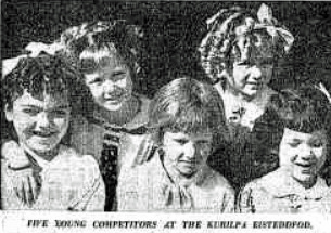 Kurilpa Eisteddfod competitiors, Telegraph 30th July 1937. (Trove)