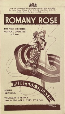 """'Romany Rose"""" at the Princess Theatre, 1938 (State Library of Queensland)"""
