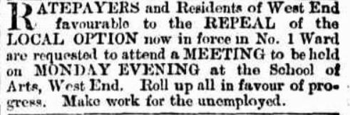 tele 30 april 1892 repeal local option