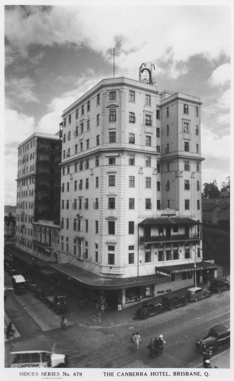 canberra hotel ca 1939