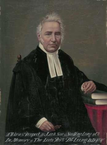 A portrait of Reverend John Dunmore Lang, 1888 (National Library of Australia)