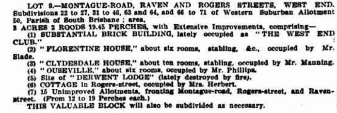 land sale Brisbane Courier, 2nd December 1896