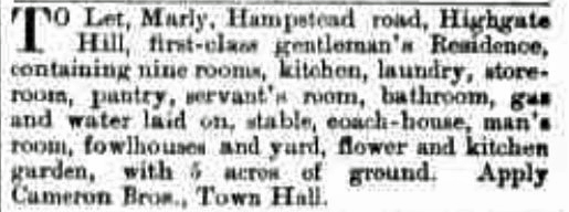 marly to let 3 jan 1895 telegraph