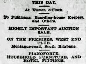west end club auction sale short 7 aug 1896 BC