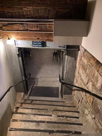 The original stone work in the basement. (N. Feros)